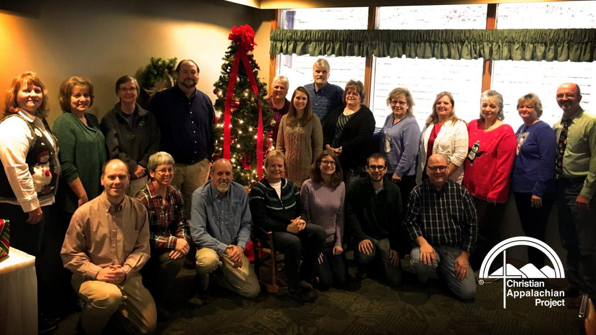 Christian Appalachian Project's human service managers at Christmas. They help drive CAP's mission on the ground and lead our programs in providing critical aid to people in need in Eastern Kentucky.