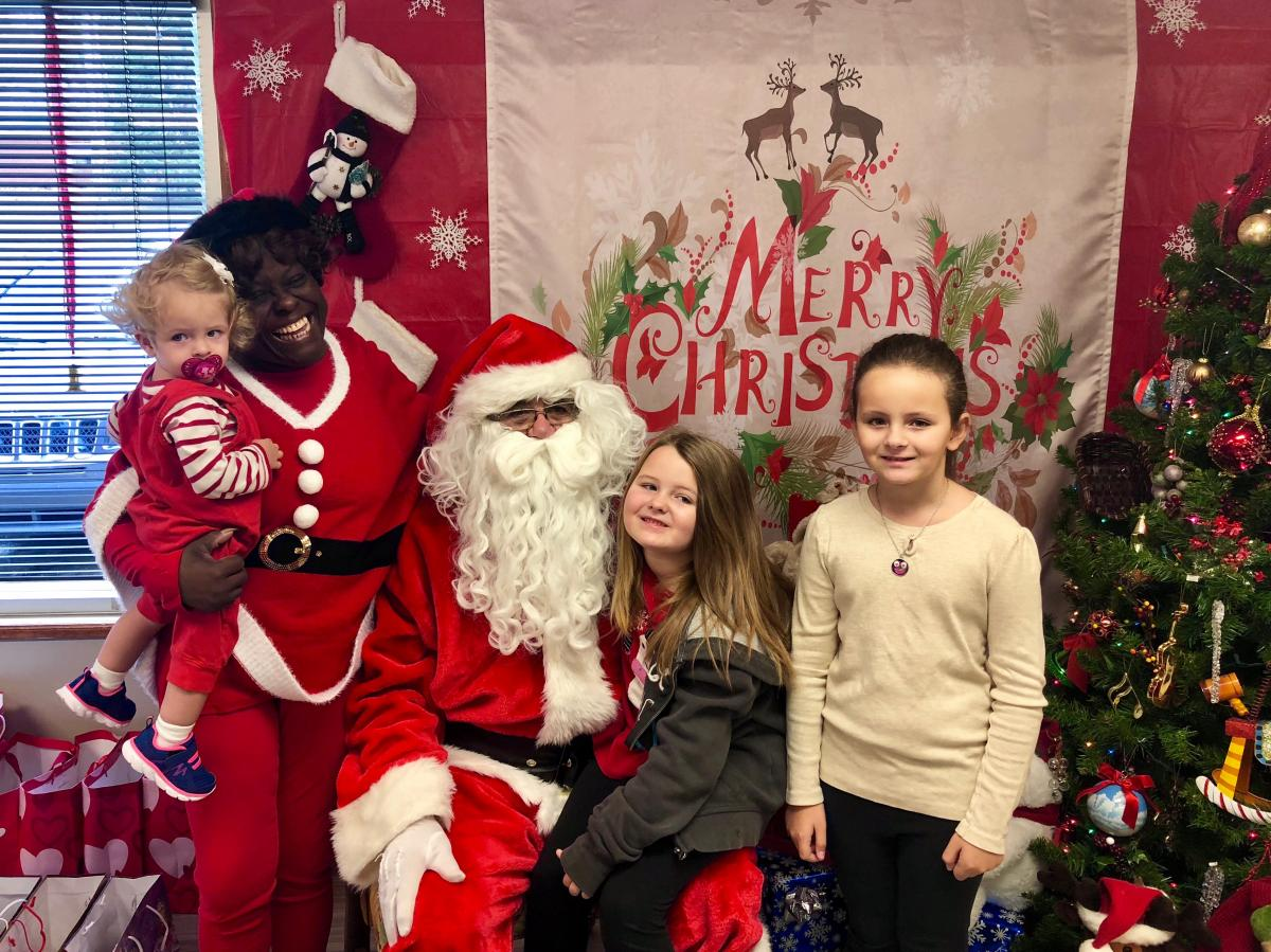 Santa Day at the Grateful Threadz store is a hit with local children