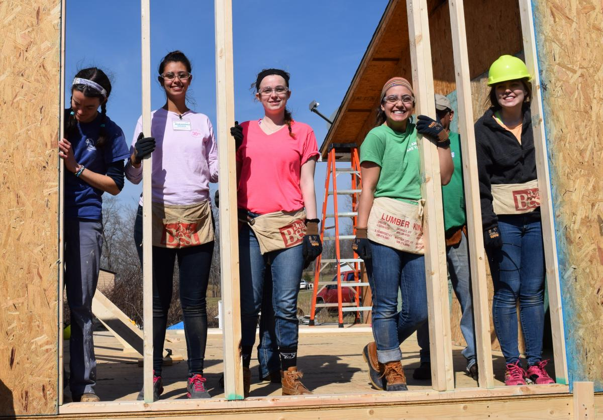 Christian Appalachian Project welcomes college and high school students from across the country for week-long spring break mission trips repairing substandard homes in Appalachia.