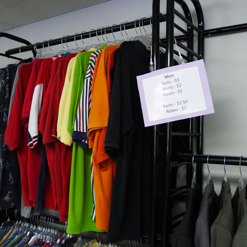 Grateful Threadz thrift store provides clothing and household goods at low cost to people in need in Appalachia