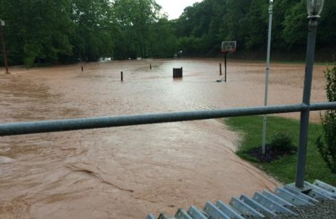 Flooding in West Virginia. Image courtesy of Flickr user FirstEnergyCorp.