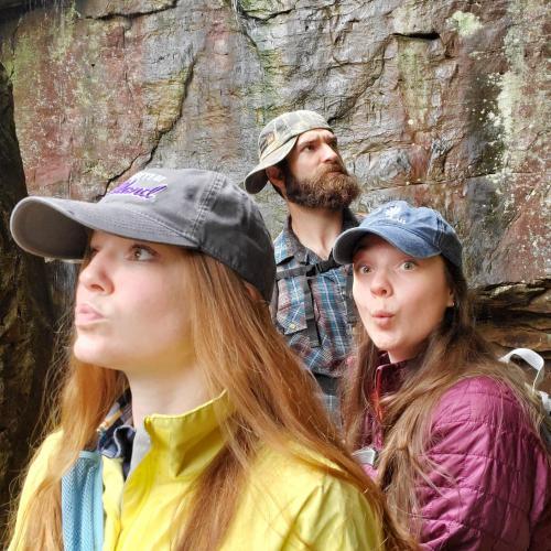 Shannon, Julia and Kody on a hiking trip